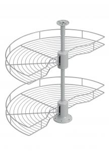 Карусель поворотна 1/2, секція 450мм D=740, хром S-3011