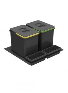 Комплект ведер 2шт GTV MULTINO в ящик выдвижной 600 антрацит