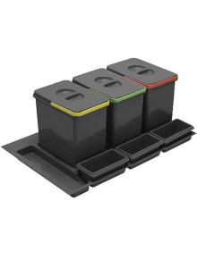Комплект ведер 6шт GTV MULTINO в ящик выдвижной 900 антрацит