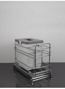 Выдвижное ведро для мусора VIBO в секцию 300 одинарное (PETGS301MG)
