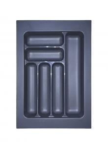 Лоток для столових приборів, пластик в секцію 400 антрацит, S-2283-A