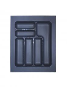 Лоток для столових приборів, пластик в секцію 450 антрацит, S-2284-A