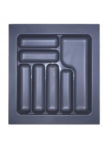 Лоток для столових приборів, пластик в секцію 500 антрацит, S-2285-A