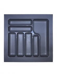 Лоток для столових приборів, пластик в секцію 550 антрацит, S-2286-A