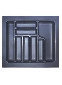 Лоток для столових приборів, пластик в секцію 600 антрацит, S-2287-A