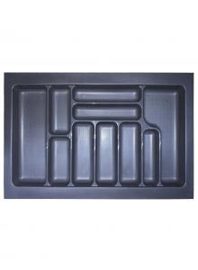 Лоток для столових приборів, пластик в секцію 800 антрацит, S-2289-A