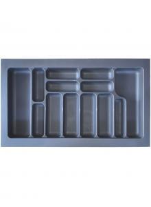Лоток для столових приборів, пластик в секцію 900 антрацит, S-2290-A