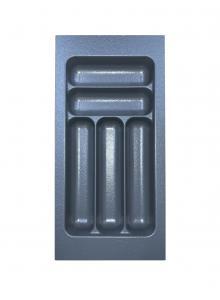 Лоток для столових приборів, пластик в секцію 300 сірий, S-2281-G