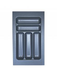 Лоток для столових приборів, пластик в секцію 350 сірий, S-2282-G