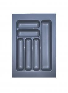 Лоток для столових приборів, пластик в секцію 400 сірий, S-2283-G