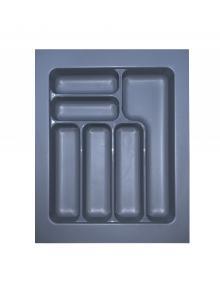 Лоток для столових приборів, пластик в секцію 450 сірий, S-2284-G