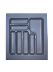 Лоток для столових приборів, пластик в секцію 500 сірий, S-2285-G