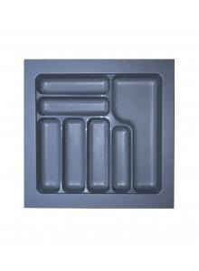 Лоток для столових приборів, пластик в секцію 550 сірий, S-2286-G