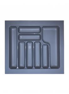 Лоток для столових приборів, пластик в секцію 600 сірий, S-2287-G