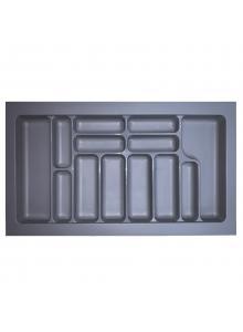 Лоток для столових приборів, пластик в секцію 900 сірий, S-2290-G