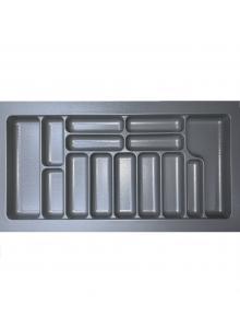 Лоток для столових приборів, пластик в секцію 1000 сірий, S-2293-G