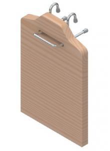 РС дошка для нарізання дерево-хром,S-4103