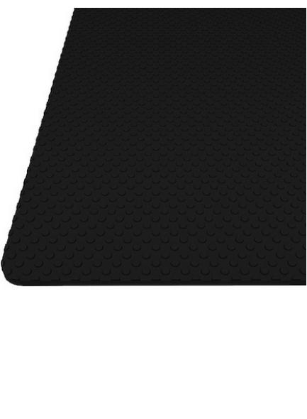 """Килимок гофрований чорний, тиснення """"коло"""" 480мм. Товщина 1,2 мм"""