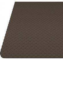 """Килимок гофрований коричневий, тиснення """"коло"""" 480мм. Товщина 1,2 мм"""