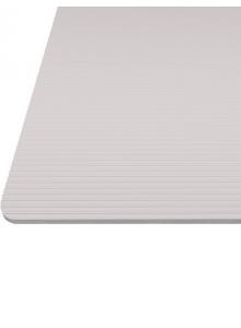 """Килимок гофрований світло-сірий, тиснення """"полоса"""" 480мм. Товщина 1,2 мм"""